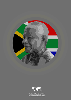 Nelson Mandela 95th by SkipperArt