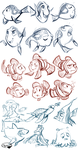 Finding Nemo Sketches by sharkie19
