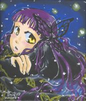 Butterfly Hair Piece-Acrylic by inuyashasno1girl