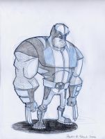 Black and Blue Wolvie by Hen-Hen