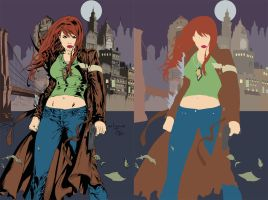 witchblade cover FLATS by jotazombie