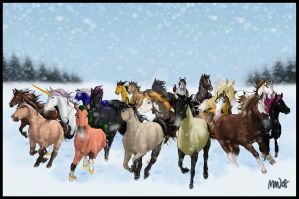 Dashing Through The Snow by MichelleWalker