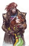 Rogue and gambit by ardian-syaf