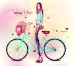 A FANCY GIRL RIDING A BIKE... by jaalondon