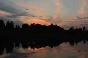 0182 evening on a small lake by axe-ql
