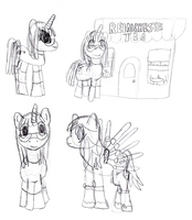Pony Practice Sketchdump by Idellechi