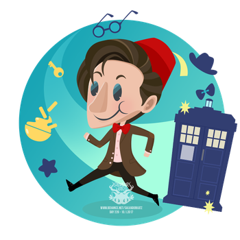 Day 226 - the eleventh doctor by salvadorkatz