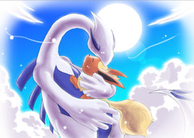 .: Delta Flareon and Lugia:. by PrincessYoshi
