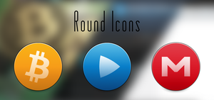 Round Icons. Updated by BogdanYaremak