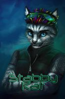 Stabby Kat Badge by T-Tiger