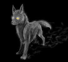 Darkness 1st attempt by RonTheWolf