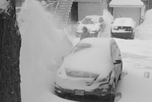 2015 January Blizzard, Snow Blowing 2 by Miss-Tbones