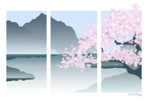 Sakura Tree Wallpaper by HarlequinsTears