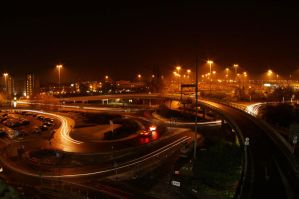Light trails and roundabouts by powerssk8