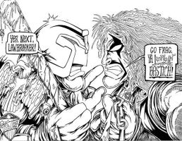 Dredd vs Lobo by MonsterInk