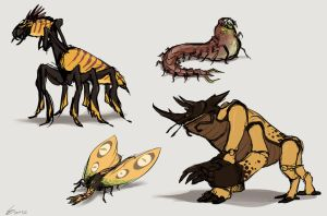 Insect demons by TheScatterbrain