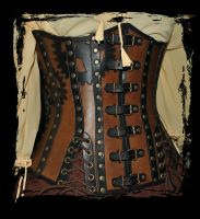 underbust leather corset by Lagueuse