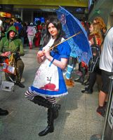 Alice with a parasol by ZeroKing2015