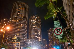 Downtown Honolulu at night by Robby-Robert