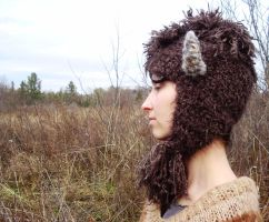 side of bison hat by TinaTrineer