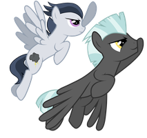 Brother and Brother fly up to the sky by DreamCasterPegasus