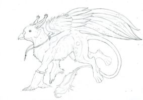 Gryphon sketch by Katkiz