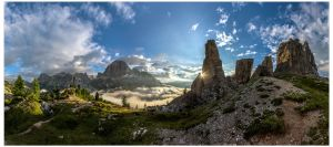 Cinque Torri Panorama by JamesRushforth