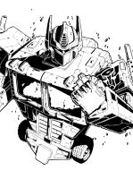 Optimus Prime inked by CryptyC08