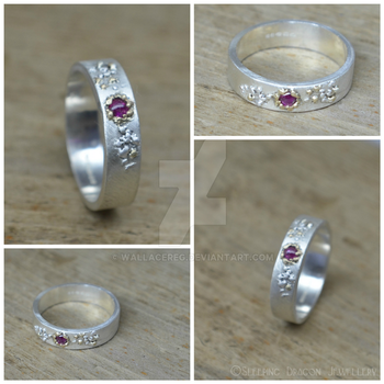 Ruby And Gold Tig Ring by WallaceReg