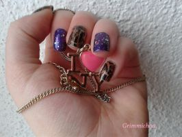 Bling Bling Nail Art by Grimmichou