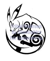 Tribal Umbreon Commission by ShadowKira