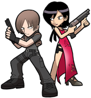 RE4 Leon and Ada by SandikaRakhim