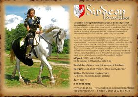 Horse-riding camp flyer - lovastabor szorolap by Sindeon