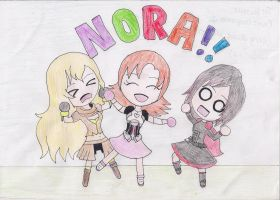 Ruby, Yang, NORA!! by BluePanda326