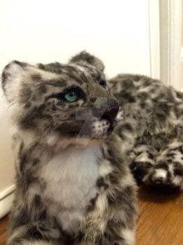 Snow leopard on etsy! SOLD! by creaturesofwhimsy