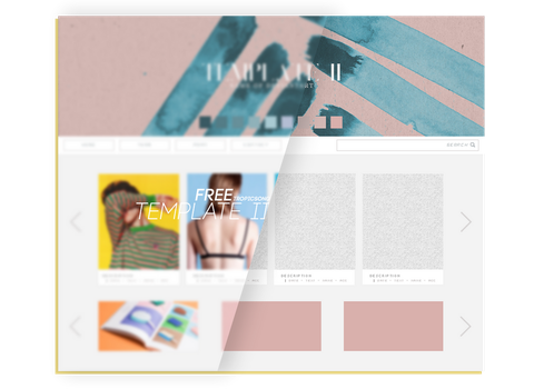 Free Template II  [.PSD] by tropicsong