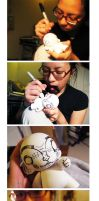 When I was making my munny... by asyerart