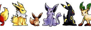 Eeveelution Lineup by raizy