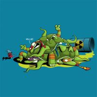 H.M.N.T Hideously Mutated Ninja Turtles by Ian-Summers