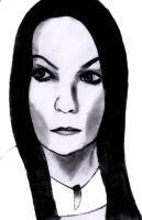 Tarja Turunen Photoshop Sketch by snow-white-king
