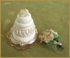 1 inch Scale Wedding Cake by DFLY847