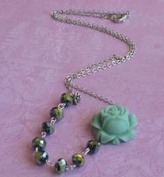 Little Mint offset necklace by LKJSlain