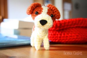Jack Russell Terrier Kawaii Amigurumi doll by BramaCrochet