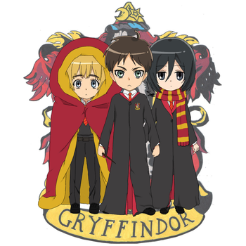 Eren Jaeger and the Harry Potter AU by EnglandAmericaItaly