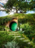 Bag End - Hobbiton by wolfblueeyes