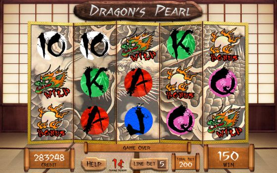 Slot Machine Screen - Dragon's Pearl by TheArtOfSanhueza