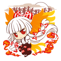 Mokou - t-shirt design by Ninamo-chan