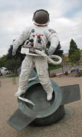 nasa astronaut statue stock by eddyhaze