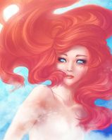 Human Ariel Underwater by bluevermillion