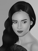 Lily Collins by IBARI16